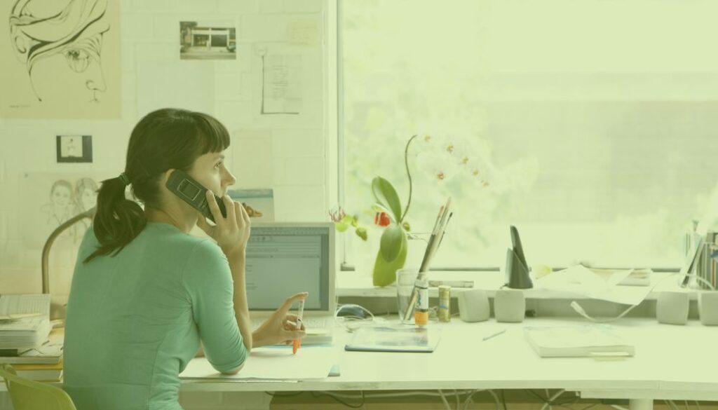Women on the phone to Radish