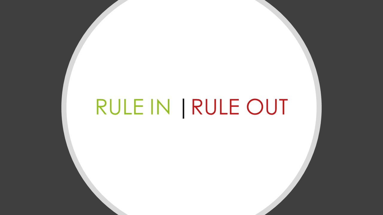 Rule in Rule out