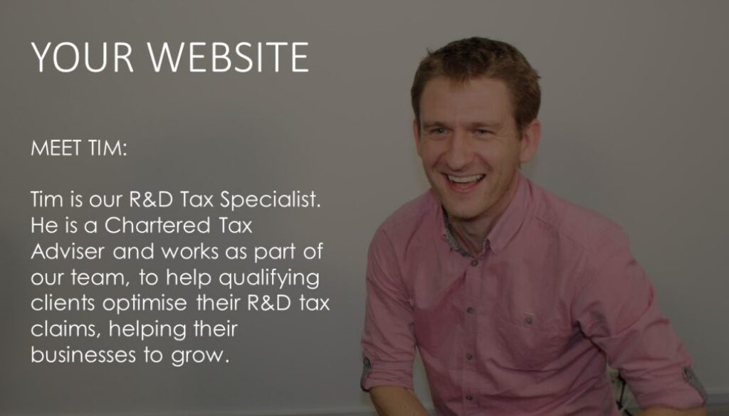 Tim on your website