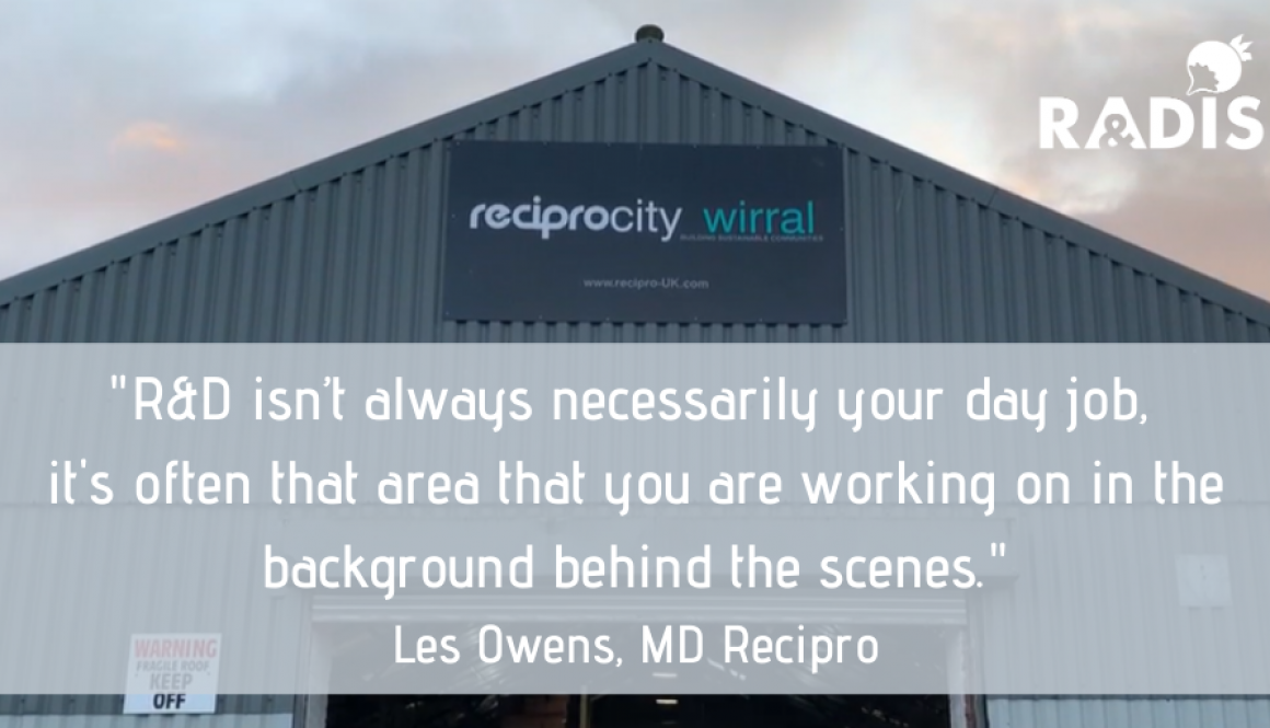 Recipro LinkedIn quote - where to find R&D