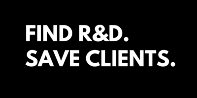 FIND R&D SAVE CLIENTS